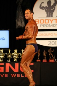 James Hergott on stage. Source: Muscle Insider Facebook Page